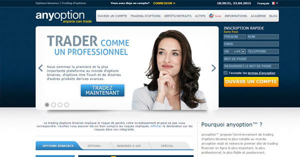 anyoption trader en ligne